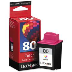 Lexmark 12A1980 Ink, 275 Page-Yield, Tri-Color