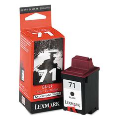 Lexmark 15M2971 (71) Ink, 270 Page-Yield, Black