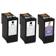 18C1517 Ink, 3/Pack, Black; Tri-Color