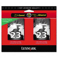 Lexmark 18C1598 Ink, 430 Page-Yield, 2/Pack, Black