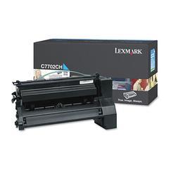 Lexmark C7702CH High-Yield Toner, 10000 Page-Yield, Cyan