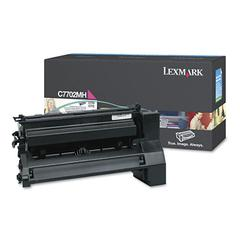Lexmark C7702MH High-Yield Toner, 10000 Page-Yield, Magenta