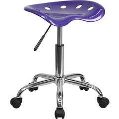 Vibrant Violet Tractor Seat and Chrome Stool