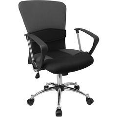Flash Furniture Mid-Back Grey Mesh Swivel Task Chair