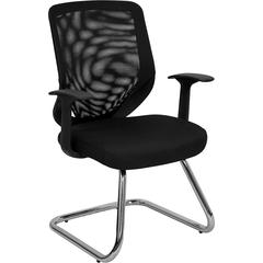 Black Mesh Back Office Side Chair with Mesh Fabric Seat