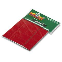 """Magna Visual Magnetic Write-on/Wipe-off Strips - Rectangle - 0.9"""" x 2"""" - Magnet - Red"""