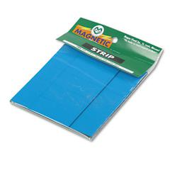 "Magna Visual Magnetic Write-on/Wipe-off Strips - Rectangle - 0.9"" x 2"" - Magnet - Blue"