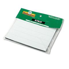 "Magnetic Write-on/Wipe-off Strips - Rectangle - 0.9"" x 6"" - Magnet - White"