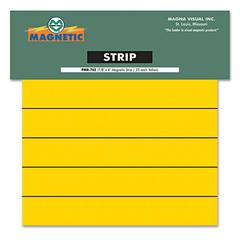Magnetic Write-On/Wipe-Off Pre-Cut Strips, 6 x 7/8, Yellow, 25/Pack