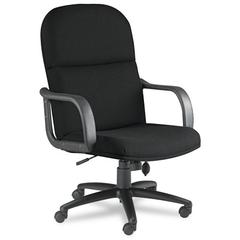 Mayline Big & Tall Series Executive Chair w/Loop Arms, Acrylic/Poly Blend Fabric,Black