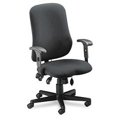 Mayline Comfort Series Contoured Support Chair, Acrylic/Poly Blend Fabric, Gray