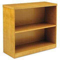 Mayline Luminary Series Veneer 2-Shelf Bookcase, 34¾w x 12d x 29h, Maple