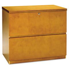 Mayline Luminary Series Wood Veneer 2-Drawer Lateral File, 34-3/4w x 20d x 29h, Maple