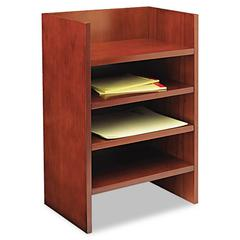 Mayline Mira Series Wood Veneer Hutch Letter Tray, 17w x 10d x 22H, Med Chry