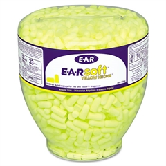 E-A-Rsoft Neon Tapered Earplug Refill, Cordless, Yellow