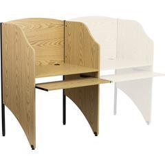 Flash Furniture Starter Study Carrel in Oak Finish