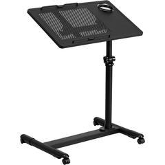 Flash Furniture Black Adjustable Height Steel Mobile Computer Desk