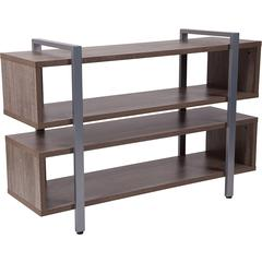 Harrison Rustic Wood Grain Finish TV Stand and Media Console