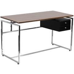 Flash Furniture Computer Desk with Two Drawer Pedestal