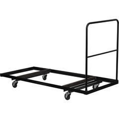 Flash Furniture Black Folding Table Dolly for 30''W x 72''D Rectangular Folding Tables