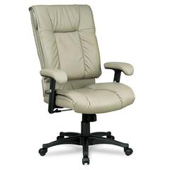 93 Series Executive Leather High-Back Swivel/Tilt Chair, Tan