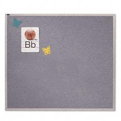 Quartet Vinyl Tack Bulletin Board, 48 x 48, Wedgewood Blue, Anodized Aluminum Frame