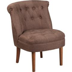 HERCULES Kenley Series Brown Fabric Tufted Chair