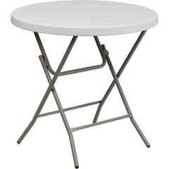 32'' Round Granite White Plastic Folding Table