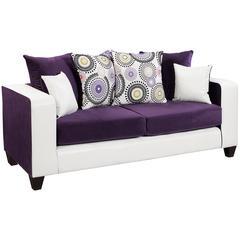 Riverstone Implosion Purple Velvet Sofa