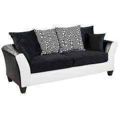 Riverstone Implosion Black Velvet Sofa