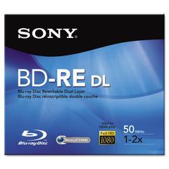 Sony BD-RE Dual Layer Rewritable Disc, 50GB, 2x