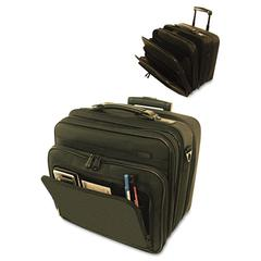 Computer Bag on Wheels, Ballistic Nylon, 16 x 9 x 14-1/2, Black