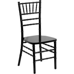 Flash Furniture Flash Elegance Supreme Black Wood Chiavari Chair