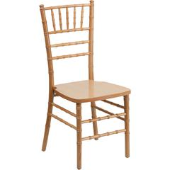 Flash Elegance Supreme Natural Wood Chiavari Chair