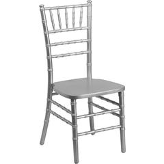 Flash Elegance Supreme Silver Wood Chiavari Chair