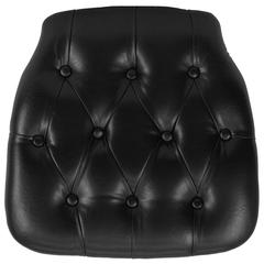 Flash Furniture Hard Black Tufted Vinyl Chiavari Chair Cushion