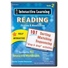 Teacher Created Resources Interactive Learning Software: Reading Fiction and Nonfiction, Grade 2