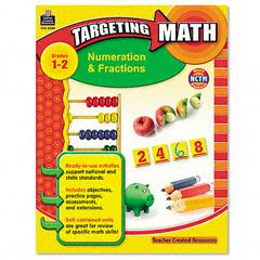 Targeting Math, Numeration and Fractions, Grades 1-2, 112 Pages