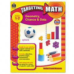 Teacher Created Resources Targeting Math, Geometry, Chance and Data, Grades 1-2, 112 Pages