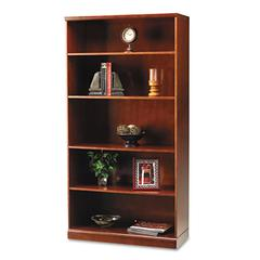 Sorrento Series Veneer 5-Shelf Bookcase, 36w x 18d, 70h, Bourbon Cherry