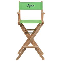 Personalized Bar Height Directors Chair in Green