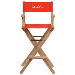 Personalized Bar Height Directors Chair in Red