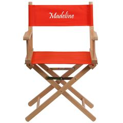 Personalized Standard Height Directors Chair in Red