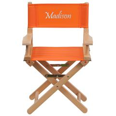 Personalized Kid Size Directors Chair in Orange