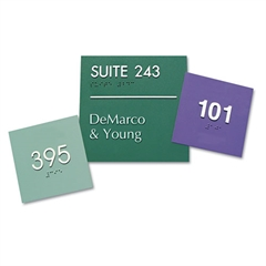 Identity Group Custom Signs, Assorted, 2 x 8 x 1/8