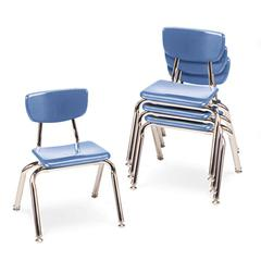 "Virco 3000 Series Classroom Chairs, 12"" Seat Height, Blueberry, 4/Carton"