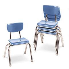 """Virco 3000 Series Classroom Chairs, 14"""" Seat Height, Blueberry, 4/Carton"""