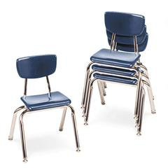 "3000 Series Classroom Chairs, 14"" Seat Height, Navy, 4/Carton"