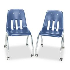 Standard Teacher's Chair, 18-5/8 x 21 x 30, Blueberry, 2/Carton