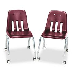 Standard Teacher's Chair, 18-5/8 x 21 x 30, Wine, 2/Carton
